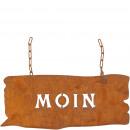 Metal board MOIN, L45cm, H20cm, rust